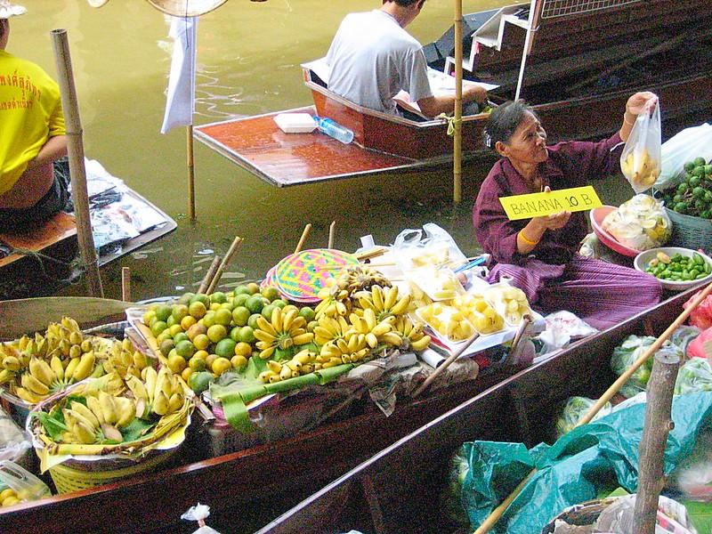 Famous Bangkok floating market