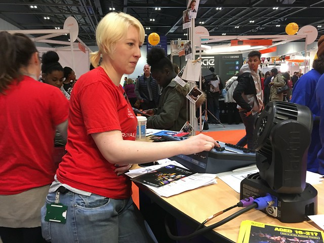 Lighting Apprentice Mel Wells at Skills London 2016