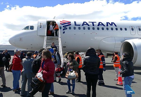 LATAM primer vuelo Puerto Natales 1 (RD)