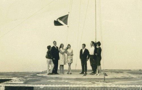 Sealand flag raising