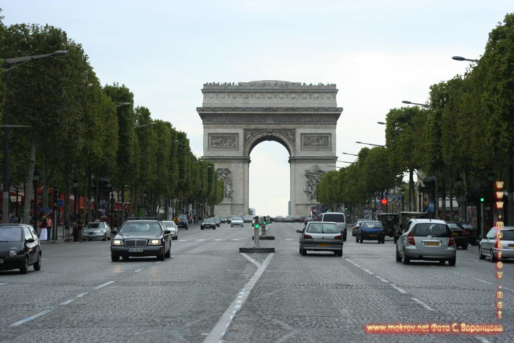 Париж триумфальная арка.
