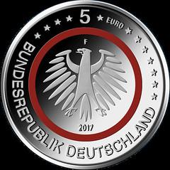 Polymer 5 euro coin