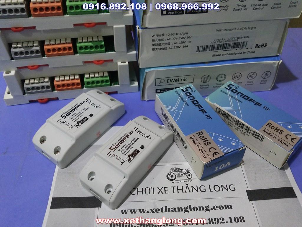 Công tắc điều khiển qua mạng bằng điện thoại 1 kênh và 4 kênh