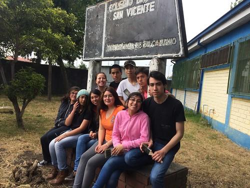"""Actividad solidaria en """"Colegio Básico San Vicente"""" de Talcahuano."""