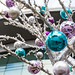 Christmas baubles at the Lowry Retail Outlet, Salford Quays
