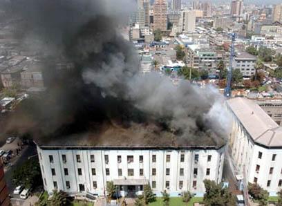 Incendio Cuartel General PDI