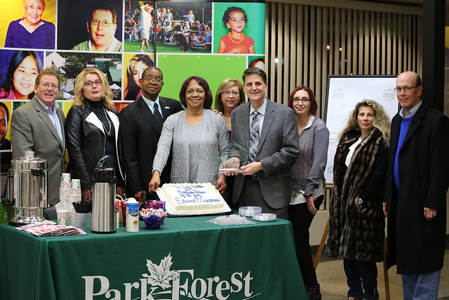 Park Forest Business Person of the Year presentation 2017
