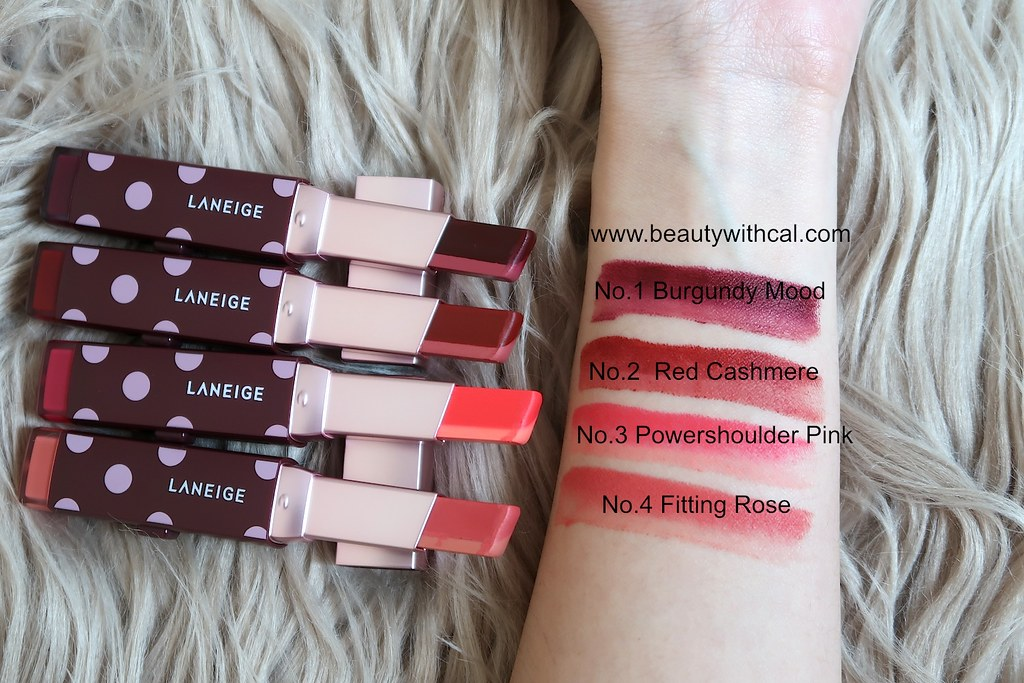 Names Swatches Laneige Two Tone Matte Lip Bars