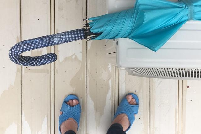 傘の柄ハンドルカスタマイズ仕上げ乾燥