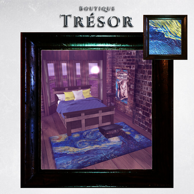 { Boutique Trésor } Starry Night Rug GIFT - TeleportHub.com Live!