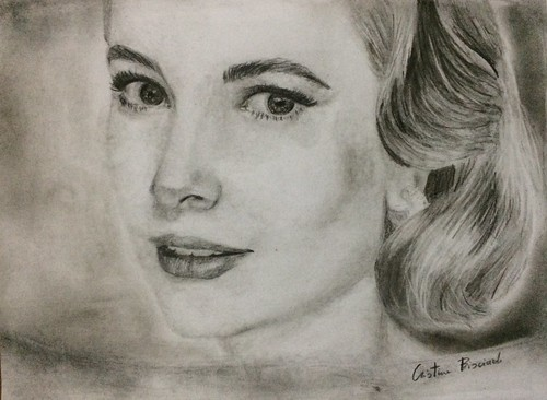 Grace kelly #art #charcoal #artist #artworks #sketchbook #artsy #picture #dailyart #art_help #flickr #beautiful #pencil #graphic #passion #draw #drawing #tattoo #tatoos #blackandwhite #ritratto #photografy #passione #creative #watercolor #gracekelly #visi