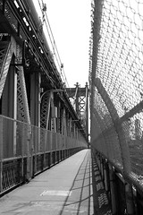 Deserted Manhattan Bridge