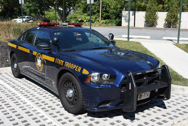 Picture Of New York State Trooper Car (1T18) - 2014 Dodge Charger. This Car 1T18 Is From Troop T Formerly Of Tarrytown, New York Now Located In West Nyack, NY. Troop T Will Move Back To New Barracks In Tarrytown, New York Once The New Tappan Zee