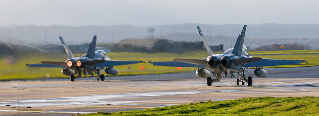 Swiss Air Force F/A 18C Hornets