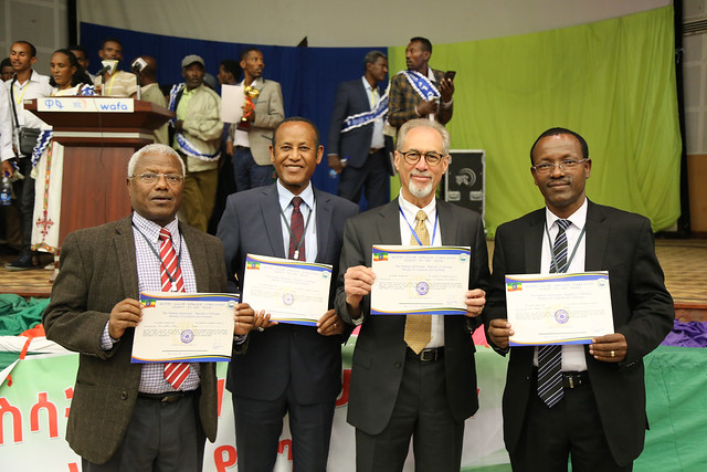 ILRI Livestock master plan team honored by H.E Dr Mulatu Teshome, President of Ethiopia