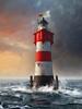 "Lighthouse ""Roter Sand"" Sunset by Photothomas85"