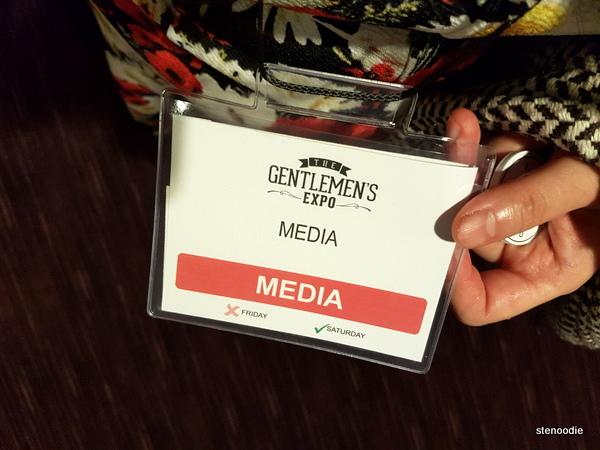 The Gentlemen's Expo media pass