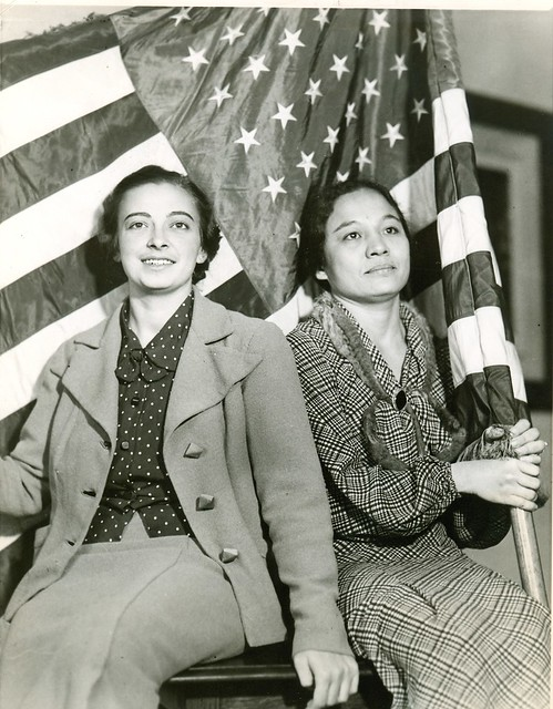 Two hispanic women proud to become Americans