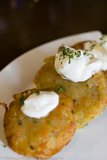Potato Latkes - Golden Samovar, Rockville, MD
