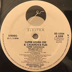 SUPER LOVER CEE & CASANOVA RUD:SUPER CASANOVA(LABEL SIDE-A)