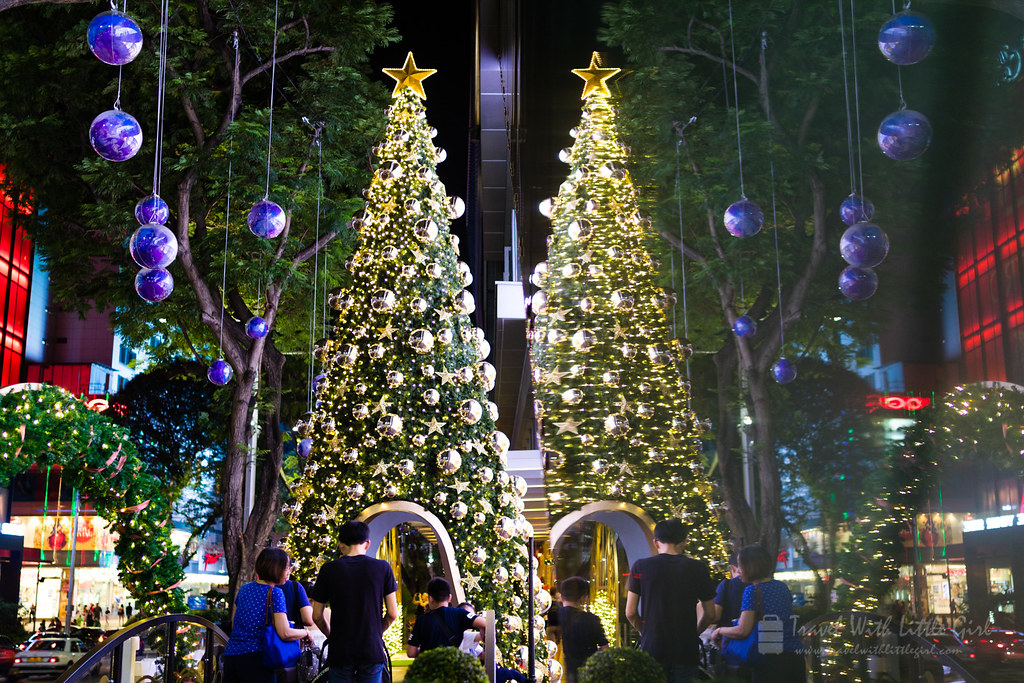 Double Christmas Trees at Orchard Road