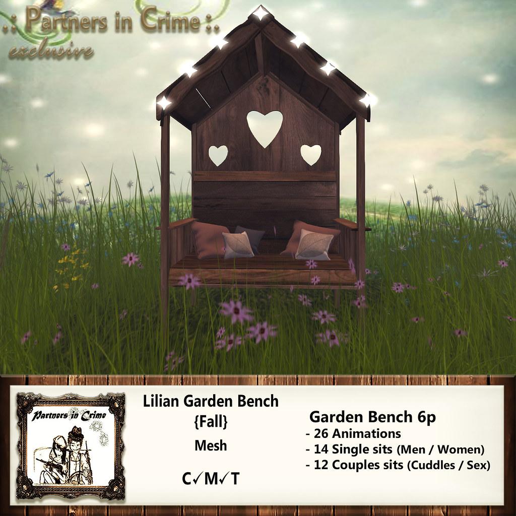 Lilian Garden Bench {Fall} - TeleportHub.com Live!