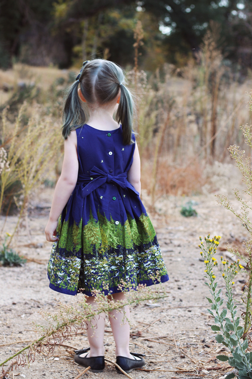 Palava Martha Dress in Navy Woodland