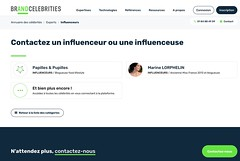 Expert Influenceur - Brand Celebrities