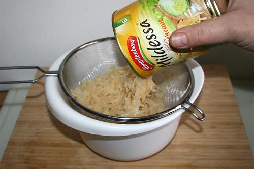 09 - Sauerkraut abtropfen lassen / Let sourcrout drain