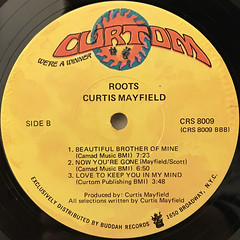 CURTIS MAYFIELD:ROOTS(LABEL SIDE-B)
