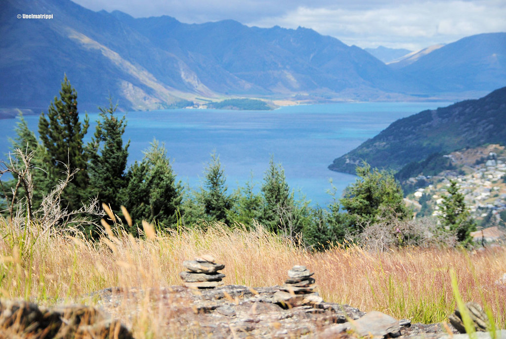 Maisema, Queenstown Hill, Uusi-Seelanti