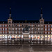 Blue hour shot of Madrid's main square, Plaza Mayor.