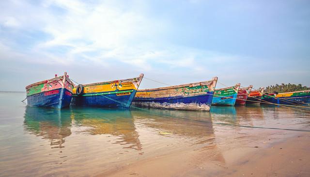 Boats docked at Rameswaram