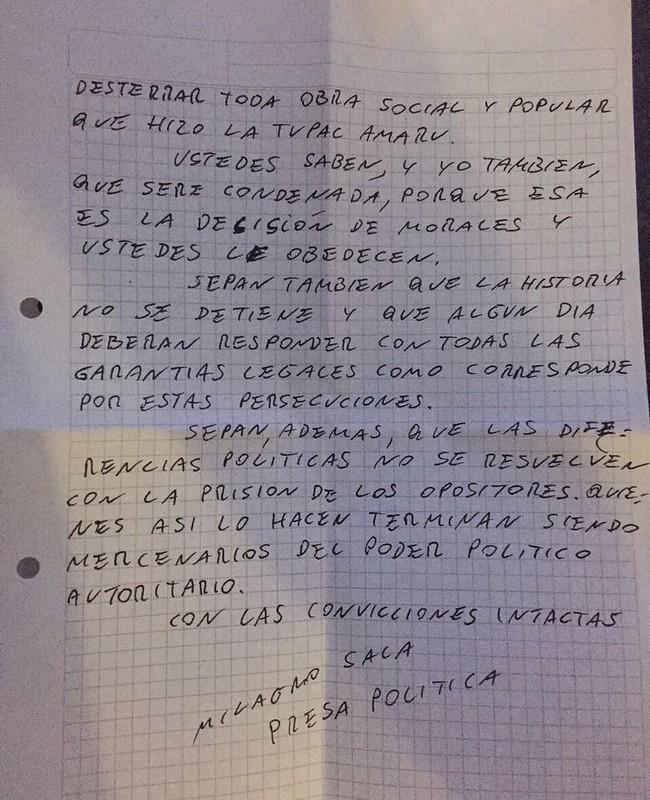 Carta Milagro 3