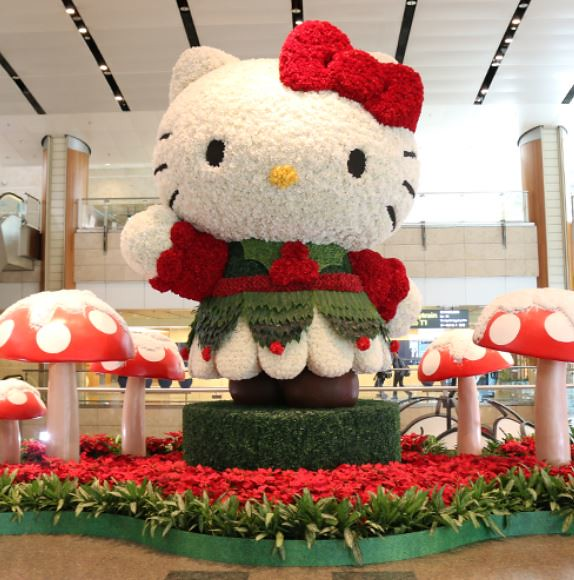 Hello Kitty Topiary @ T2
