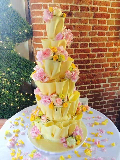 Pastel Pink and Yellow Ruffle Cake by Vanilla Cake Design