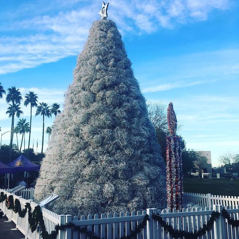 Árbol de Navidad bolas del desierto