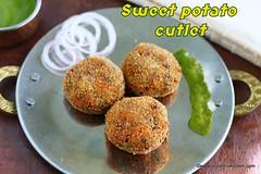 Sweet potato cutlet