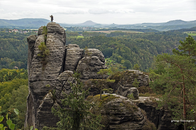 sandstone mountains on the Elbe