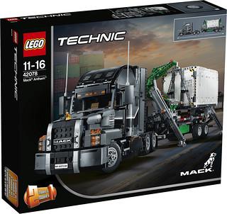 男人的浪漫~~LEGO 42078 科技系列【麥克卡車】Mack Anthem 兼具魄力尺寸和精緻細節的巨漢卡車登場!!