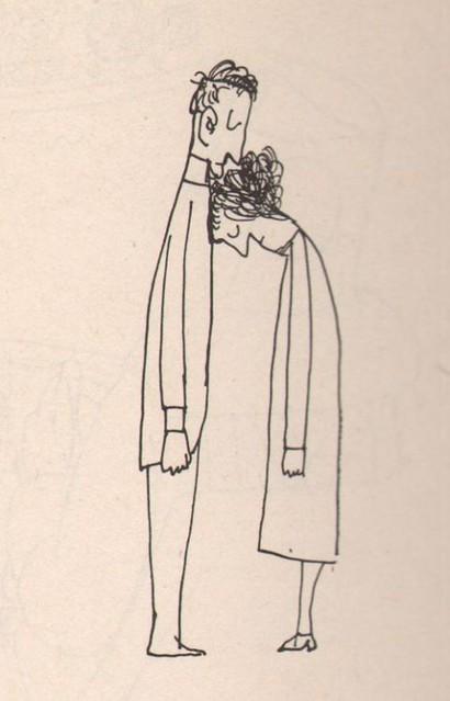 """vjeranski: Saul Steinberg""""Kiss"""", 1959."""