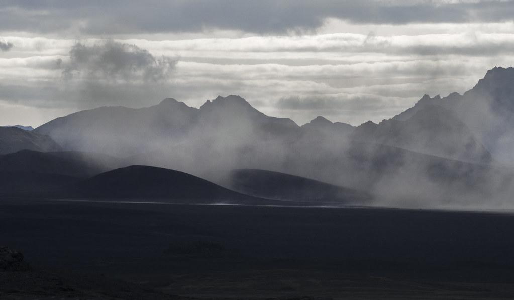 Sand Storm in Mælifellssandur