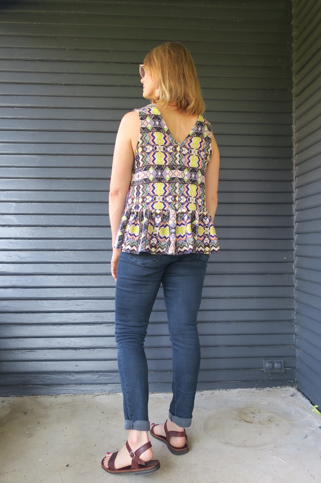 In the folds peplum top