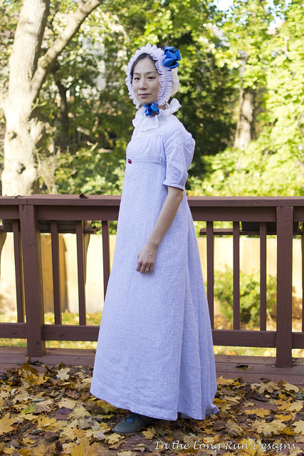Checked Regency Dress