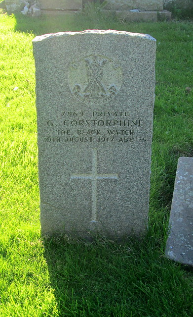 Commonwealth War Grave, Kilrenny, Fife, Scotland