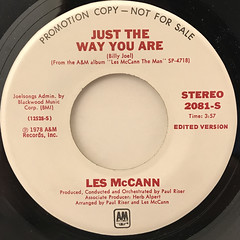 LES MCCAN:JUST THE WAY YOU ARE(LABEL SIDE-A)
