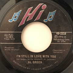 AL GREEN:I'M STILL IN LOVE WITH YOU(LABEL SIDE-A)