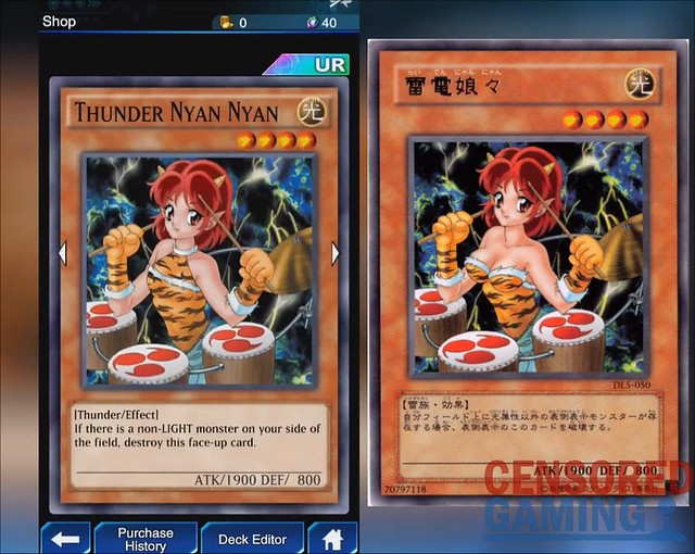 Yu-Gi-Oh Duel Links - Thunder Nyan Nyan Censorship