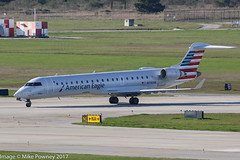 N710SK - 2004 build Bombardier CRJ700, taxiing to gate on arrival at Houston