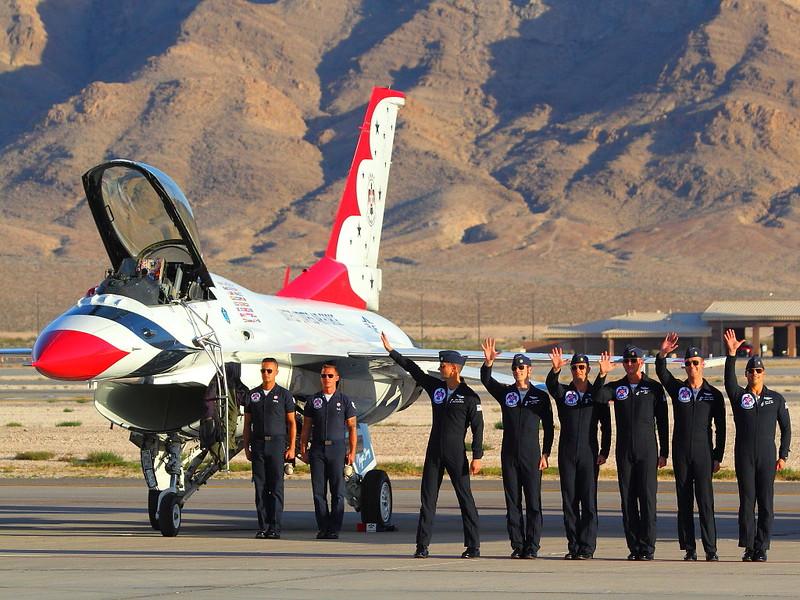 IMG_7113 Thunderbirds Pilots, Nellis AFB